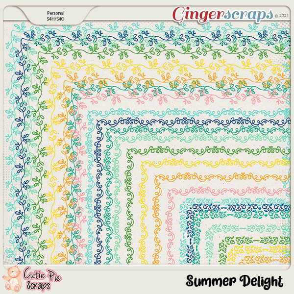 Summer Delight Page Borders