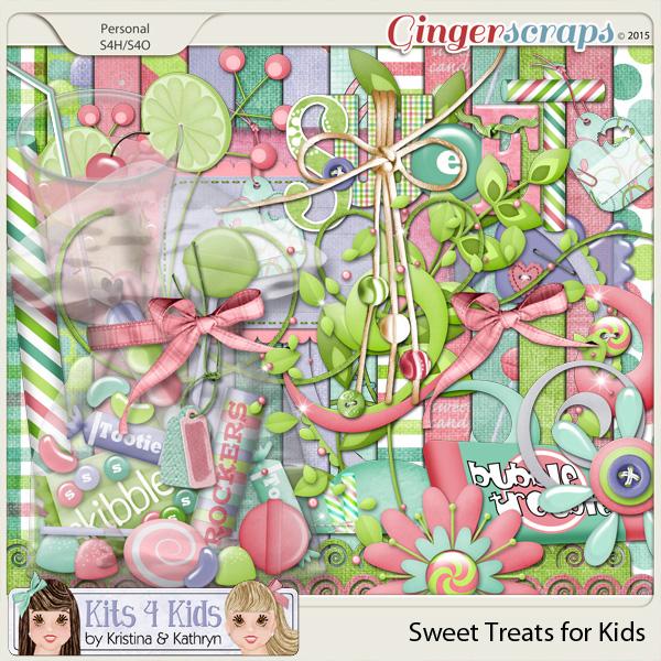 Sweet Treats Page Kit by K4K