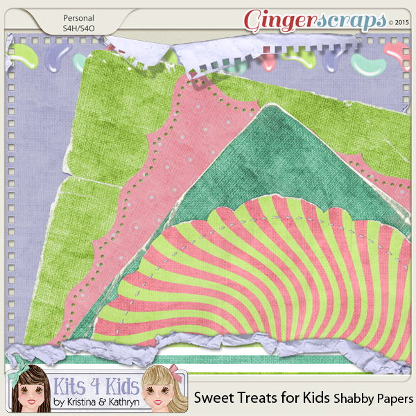 Sweet Treats Shabby Papers by K4K