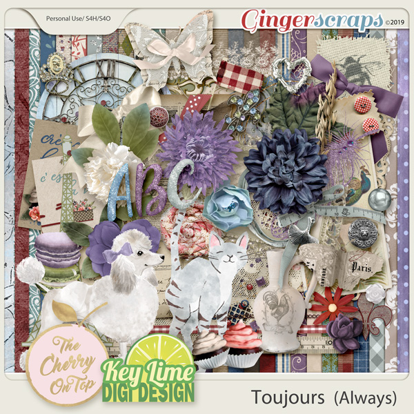 The Cherry On Top: Toujours Scrapbooking Kit