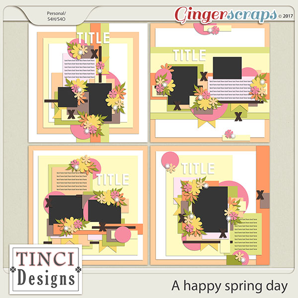 Gingerscraps Templates A Happy Spring Day