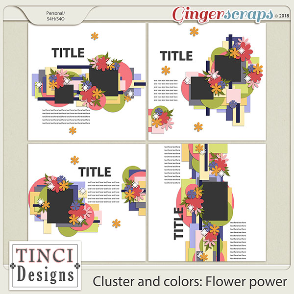 Cluster and colors: Flower power