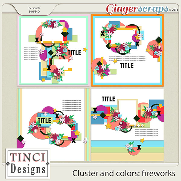 Cluster and colors: fireworks