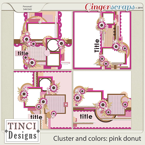 Cluster and colors: pink donut