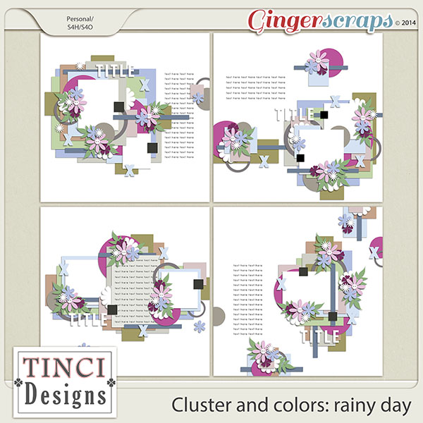 Cluster and colors: rainy day