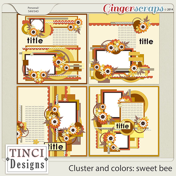 Cluster and colors: sweet bee