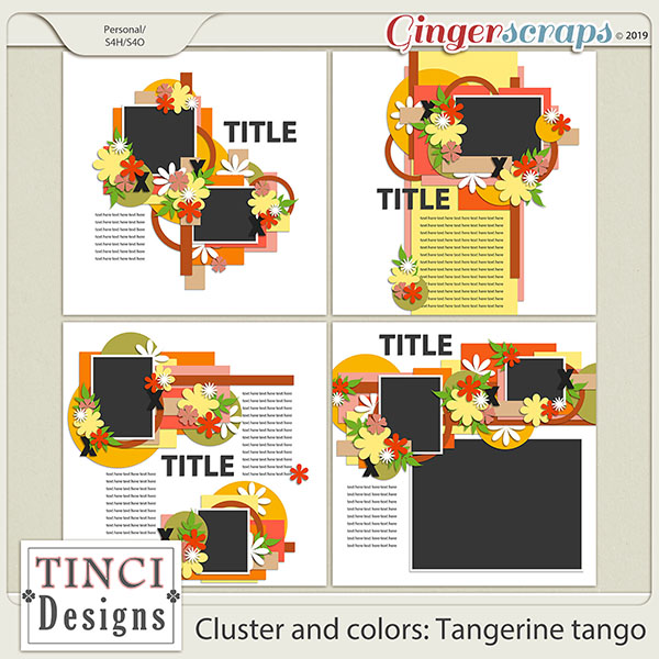 Cluster and colors: Tangerine tango
