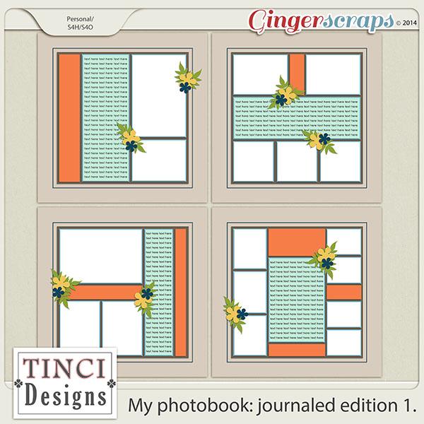 My photobook: journaled edition 1.