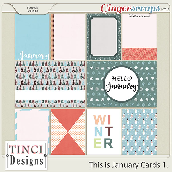 This is January Cards 1.