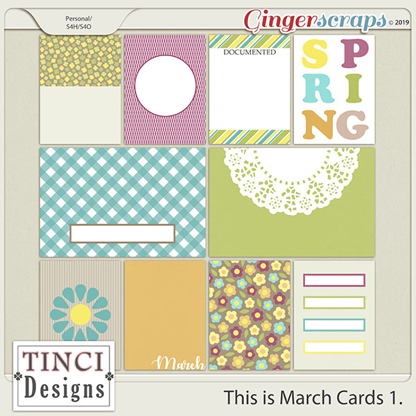 This is March Cards 1.