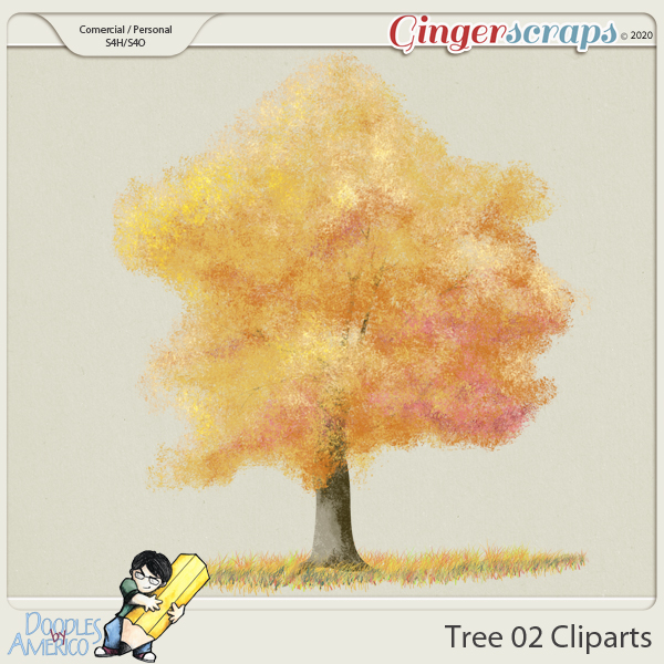 Doodles By Americo: Tree-02 Clipart