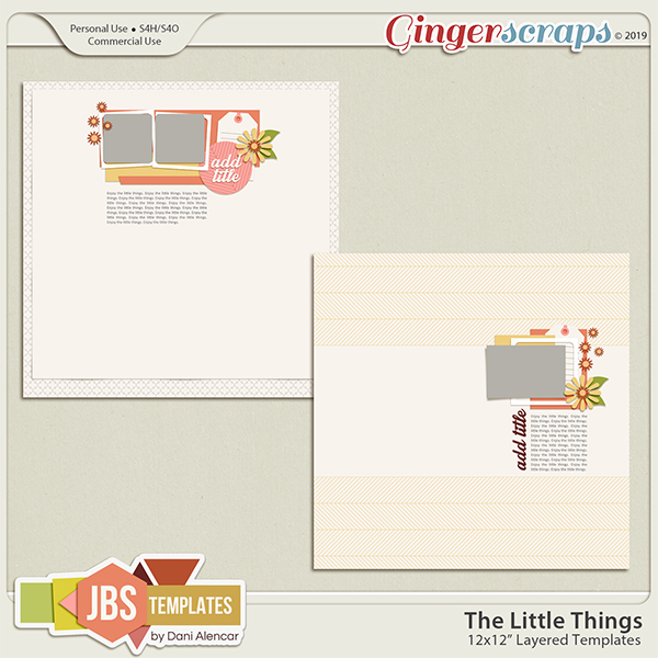 The Little Things 1 Templates by JB Studio