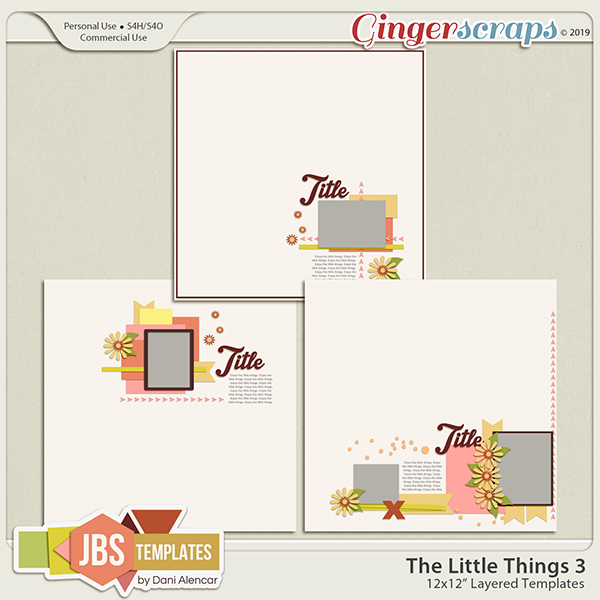 The Little Things 3 Templates by JB Studio