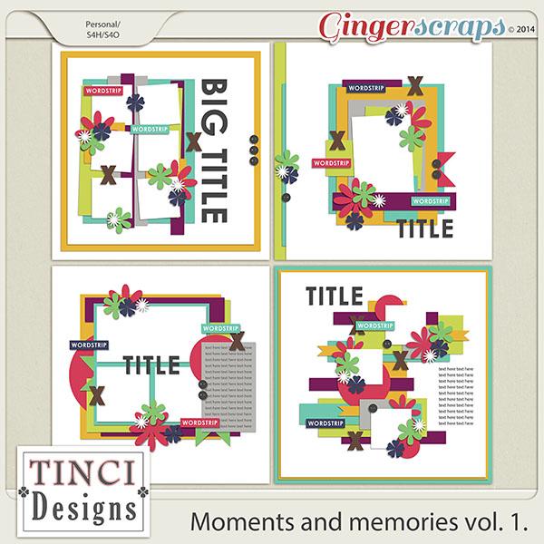 Moments and memories vol. 1.