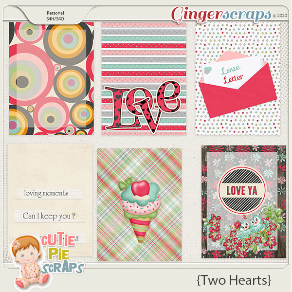 Two Hearts Journal Cards