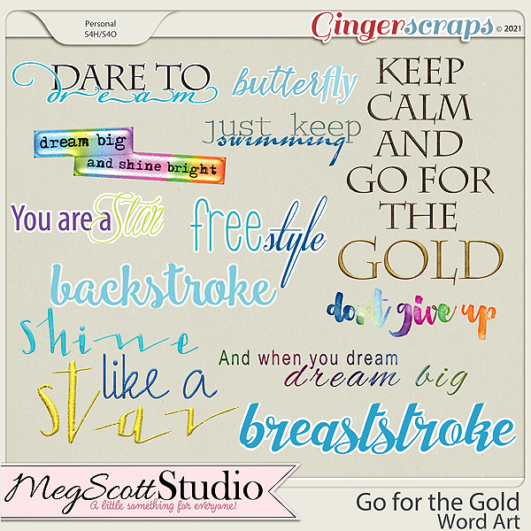 Go for the Gold - Word Art