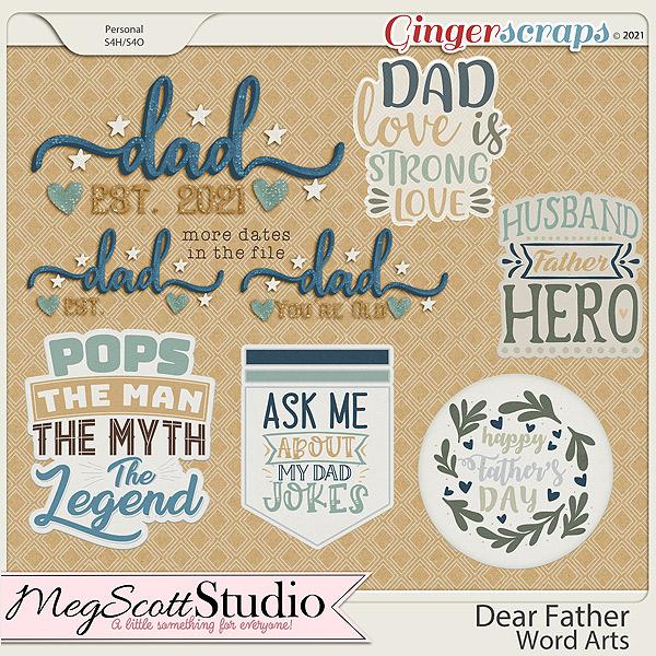 Dear Father Word Art