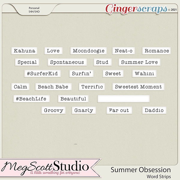 Summer Obsession Word Strips