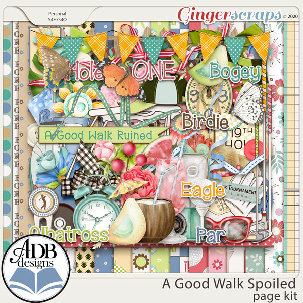 A Good Walk Spoiled Page Kit by ADB Designs