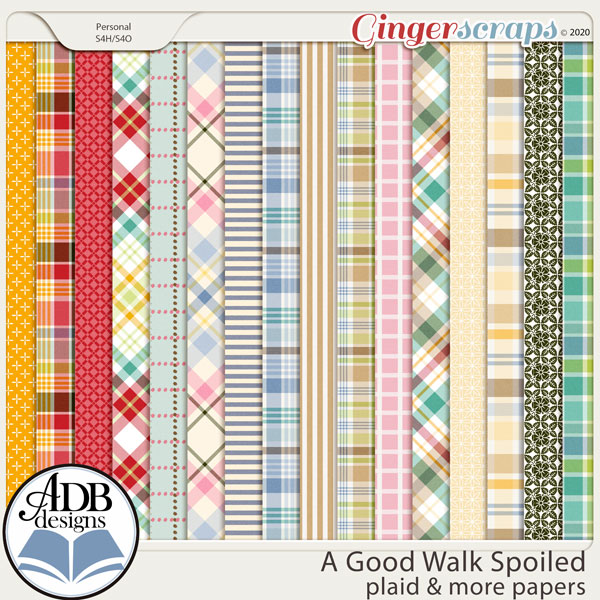 A Good Walk Spoiled Plaid & More Papers by ADB Designs