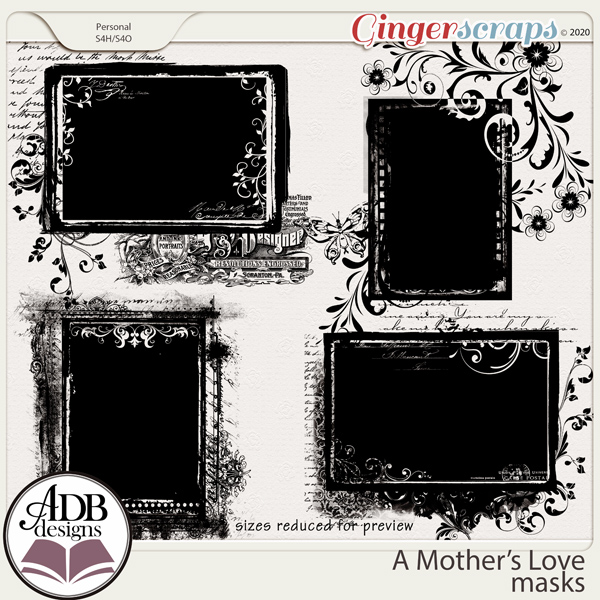 A Mother's Love Masks by ADB Designs