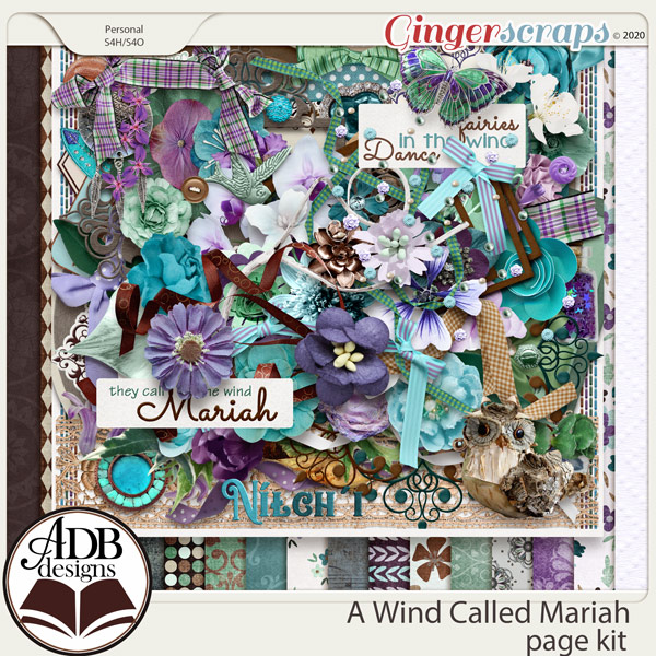 A Wind Called Mariah Page Kit by ADB Designs