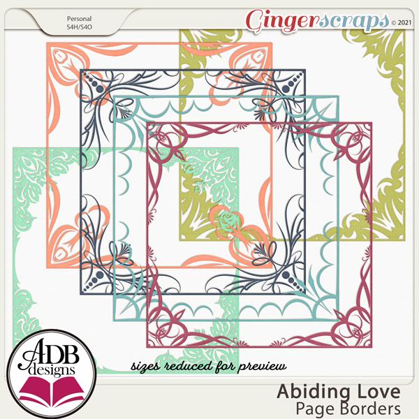 Abiding Love Page Borders by ADB Designs