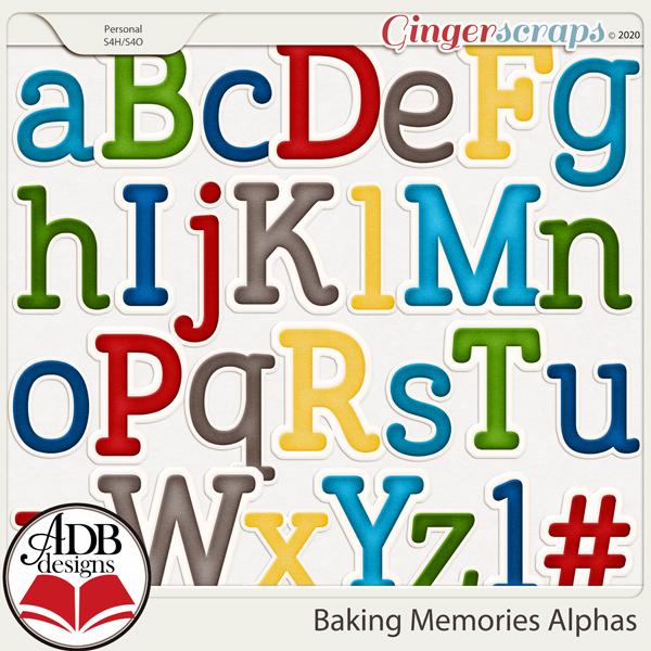 Baking Memories Alphas by ADB Designs