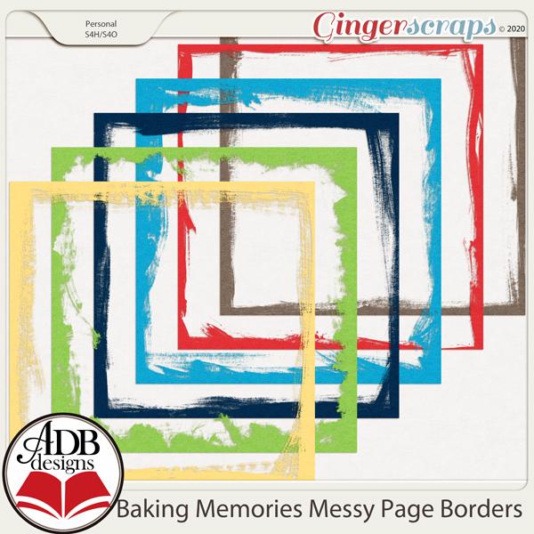 Baking Memories Page Borders by ADB Designs
