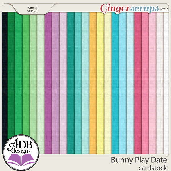 Bunny Play Date Solid Papers by ADB Designs