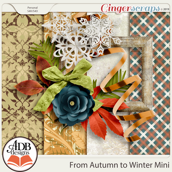 From Autumn to Winter Mini Kit by ADB Designs