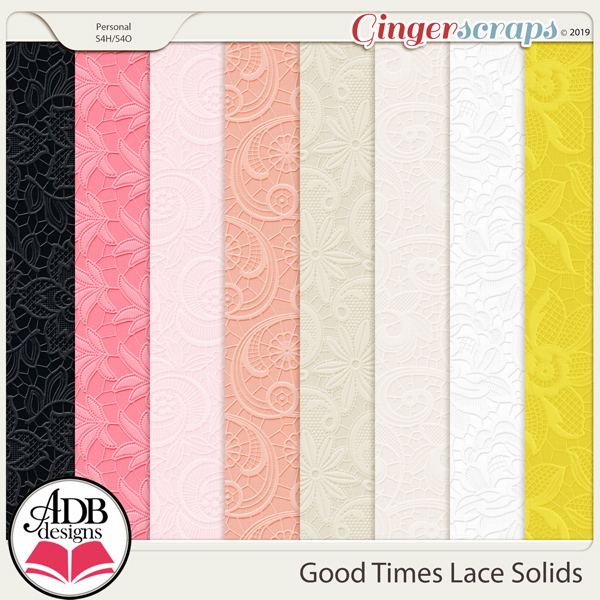 Good Times Lace Embossed Solids by ADB Designs