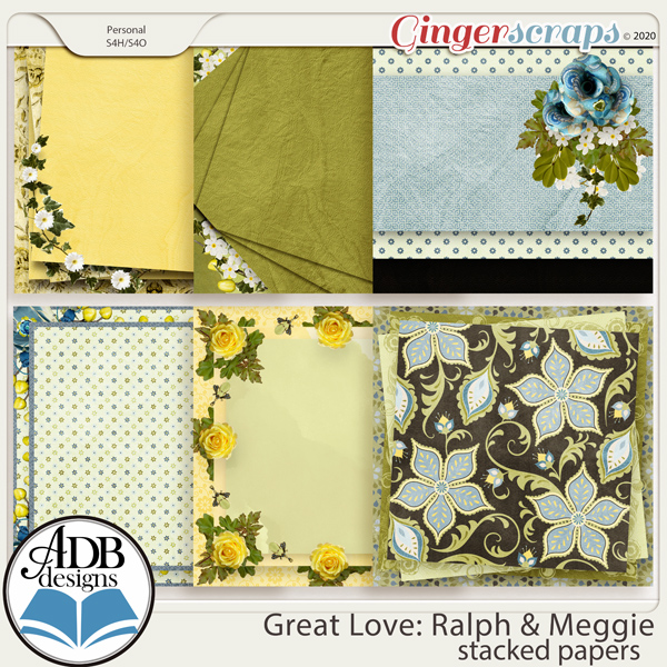 Great Love: Ralph & Meggie Stacked Papers by ADB Designs