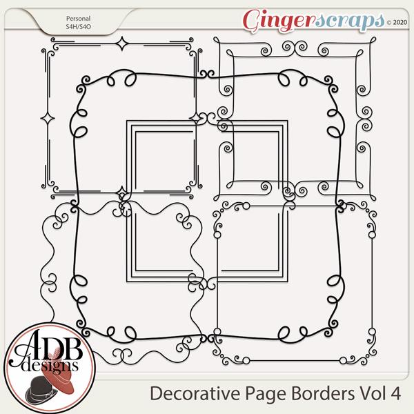 Heritage Resource - Decorative Page Borders Vol 04 by ADB Designs