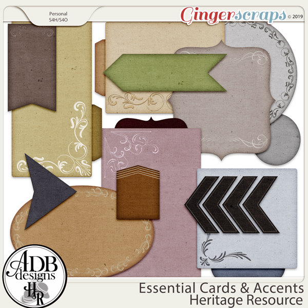 Heritage Resource Essential Cards & Accents by ADB Designs