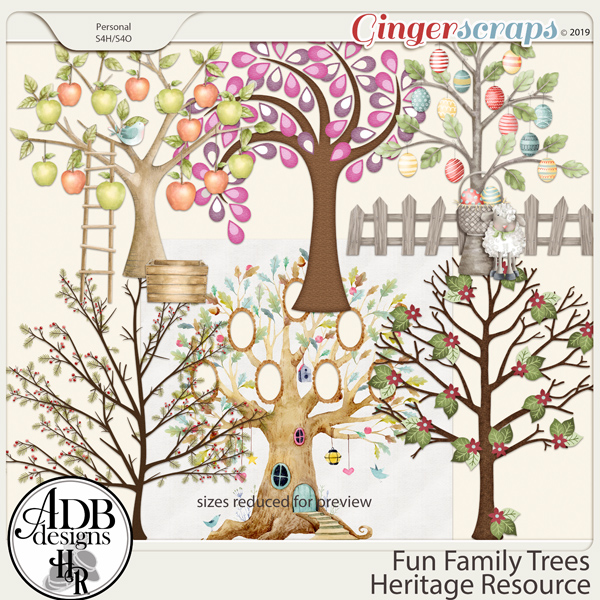 Heritage Resource Fun Family Trees by ADB Designs
