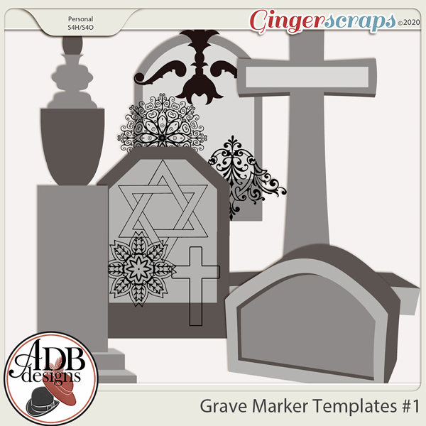 Heritage Resource - Grave Markers Set 01 by ADB Designs