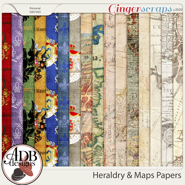 Heritage Resource - Heraldry & Maps Papers by ADB Designs