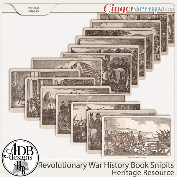 Heritage Resources Revolutionary War Book Snips by ADB Designs