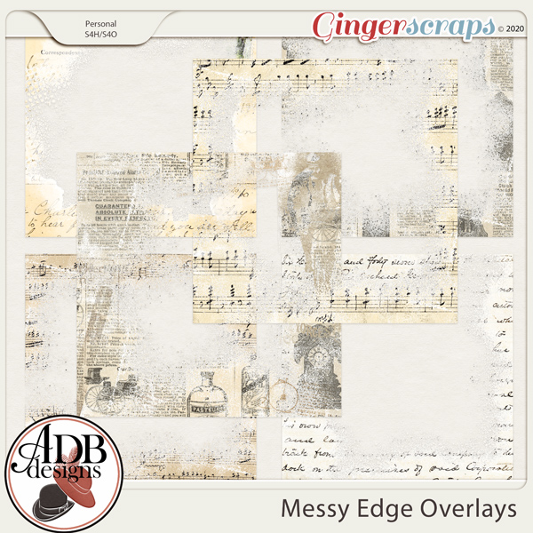 Heritage Resource - Messy Edge Overlays by ADB Designs