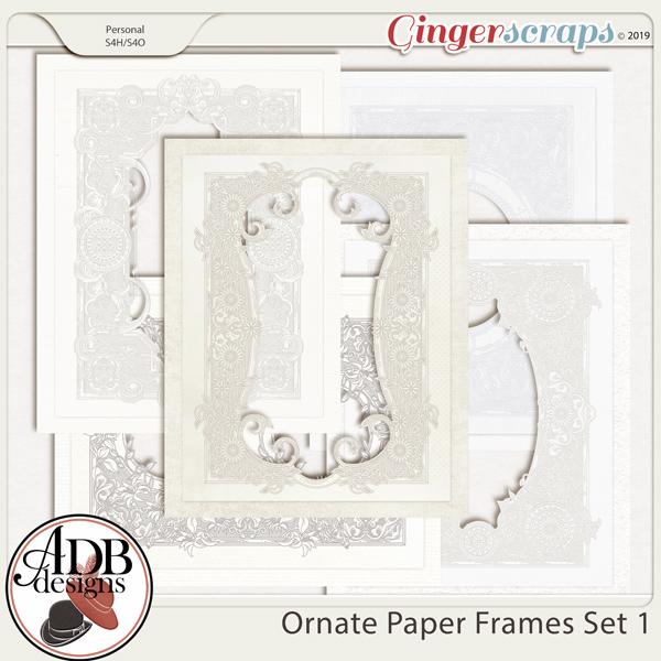 Heritage Resource - Ornate Frames Set 1 by ADB Designs