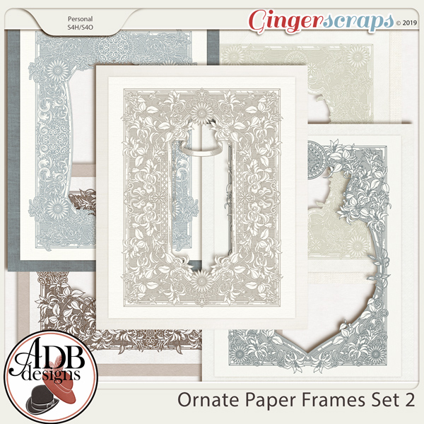 Heritage Resource - Ornate Frames Set 2 by ADB Designs