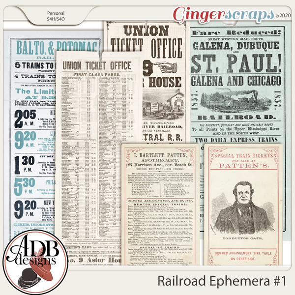 Heritage Resource - Railroad Ephemera Vol 01 by ADB Designs