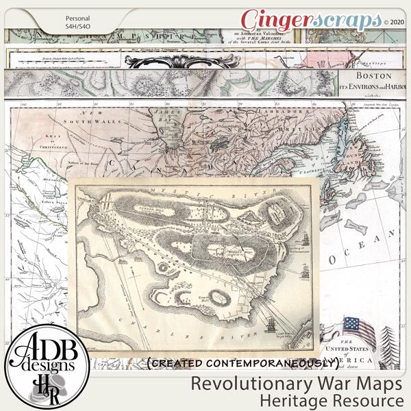 Heritage Resources Revolutionary War Maps by ADB Designs