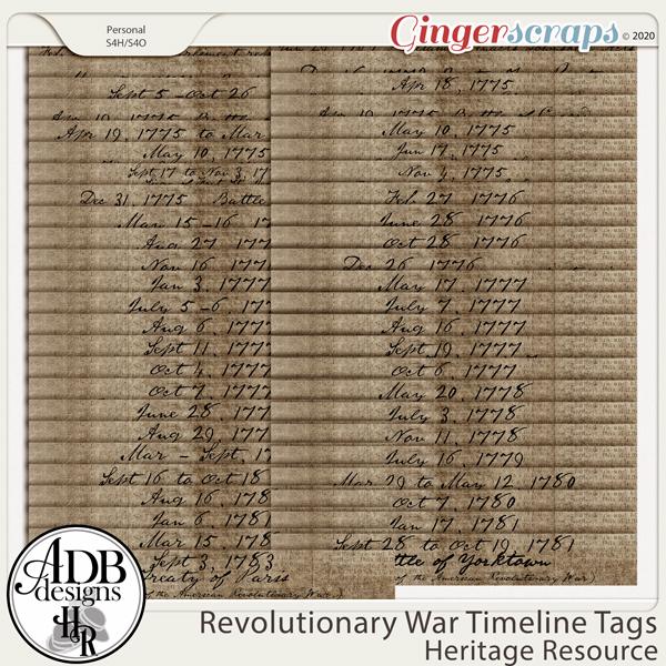 Heritage Resources Revolutionary War Timelines by ADB Designs