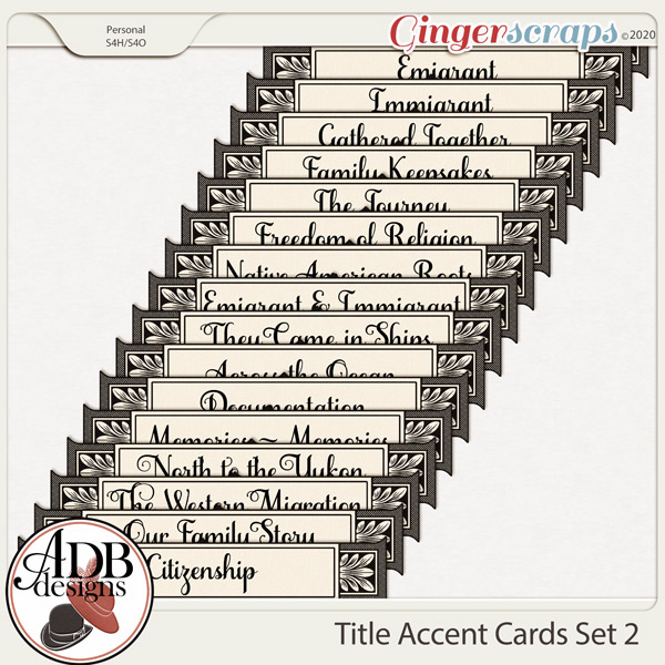 Heritage Resource - Title and Accent Tags Set 2 by ADB Designs