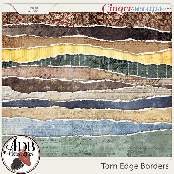 Heritage Resource - Torn Edge Borders by ADB Designs