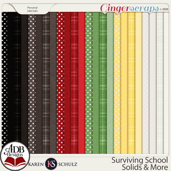 Surviving School Solids and More by Karen Schulz and ADB Designs