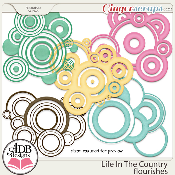 Life In The Country Flourishes by ADB Designs