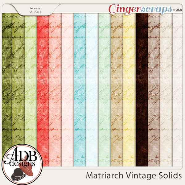 Matriarch Vintage Solid Papers by ADB Designs